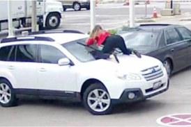 Девушка грудью остановила угонщика своей машины