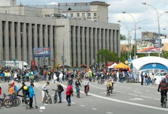 Велопарад в Москве собрал около 40 тыс. участников