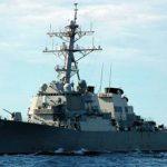 У берегов Японии американский эсминец столкнулся с торговым судном