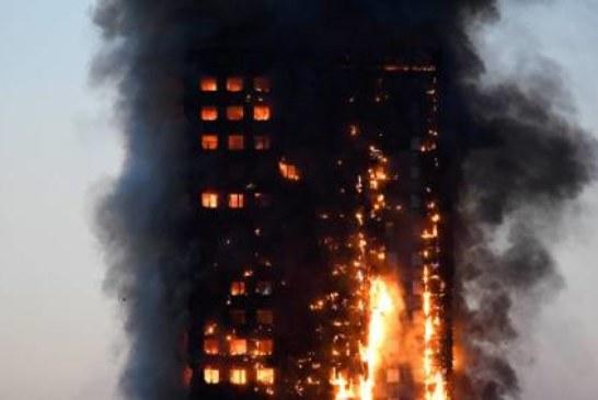 В Лондоне мощный пожар охватил жилой дом