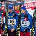 Мужская сборная России по биатлону стала третьей на этапе Кубка мира