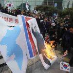 В Южной Корее прошли митинги против совместной Олимпиады с КНДР